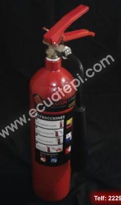 Extintores Portátiles Marca Ecuatepi:  >DIOXIDO DE CARBONO CO2