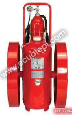 Extintores Satélites:  >Purple K 150 LB