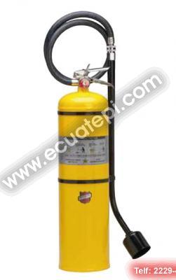 Extintores Portatiles Norteamericanos:  >Extintor tipo D