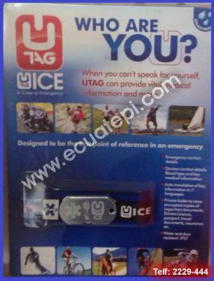 Productos Varios:  >Muñequera USB de información