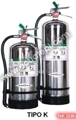 Extintores Portatiles Norteamericanos:  >TIPO K